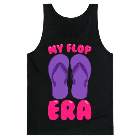 My Flop Era Flip Flops White Print Tank Top