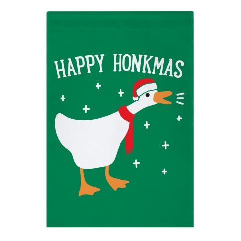 Happy Honkmas Goose Garden Flag