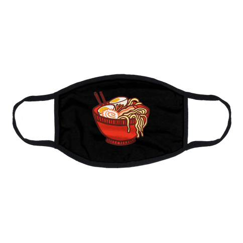 Ramen Bowl Flat Face Mask