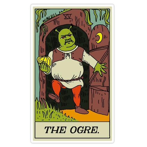 The Ogre Tarot Card Die Cut Sticker