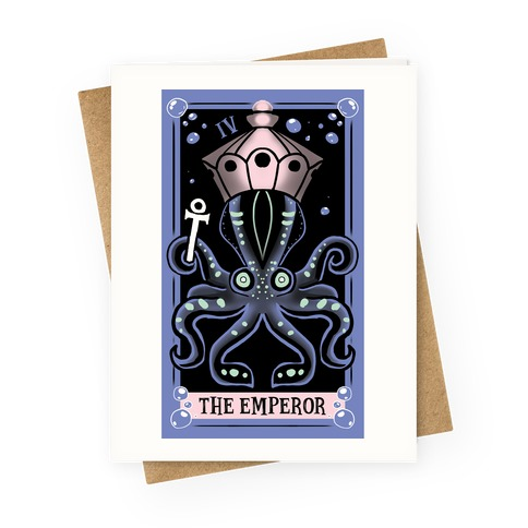 Creepy Cute Tarots: The Emperor Greeting Card