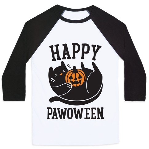Happy Pawoween Baseball Tee
