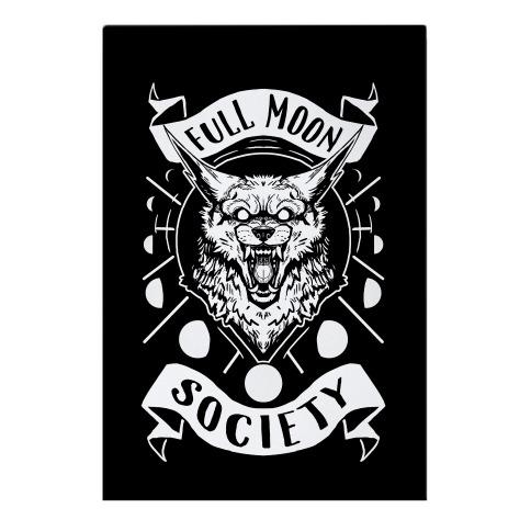 Full Moon Society Garden Flag