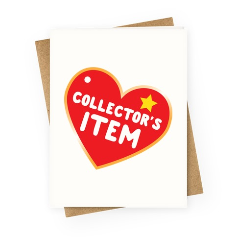 Collector's Item Toy Parody Greeting Card