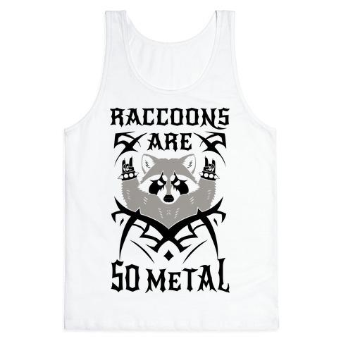 Raccoons Are So Metal Tank Top