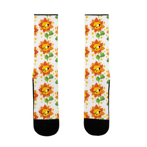 Winky Flower Pattern Sock