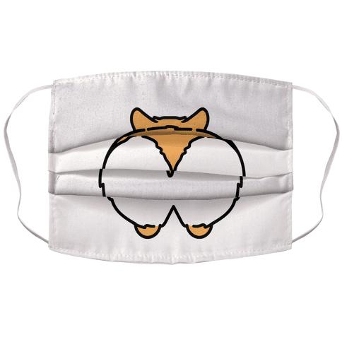 Corgi Butt Parody Face Mask Cover