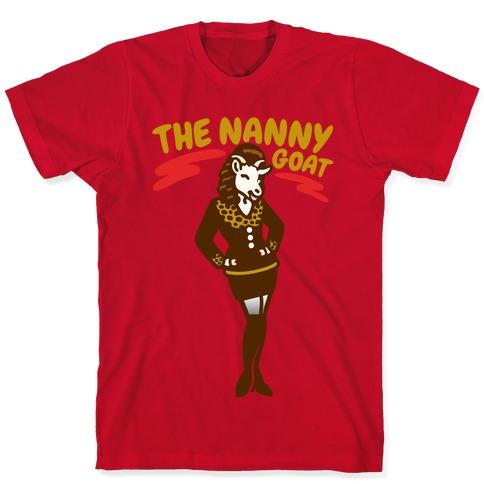 The Nanny Goat Parody White Print T-Shirt