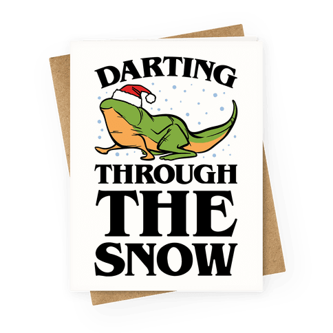 Darting Through The Snow Parody Greeting Card