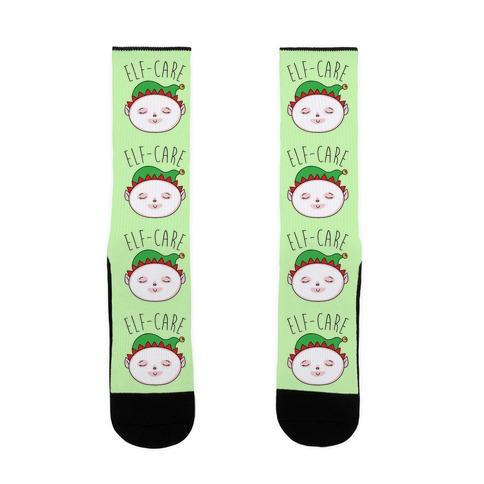 Elf-Care Elf Self-Care Christmas Parody Sock