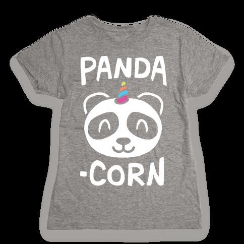 Panda-Corn Womens T-Shirt