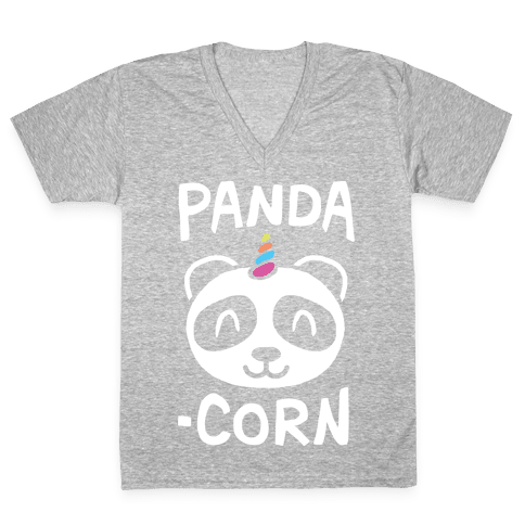 Panda-Corn V-Neck Tee Shirt