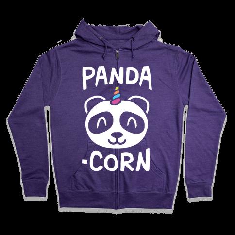 Panda-Corn Zip Hoodie