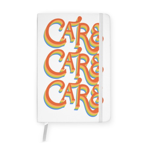 Care Retro Lettering Notebook