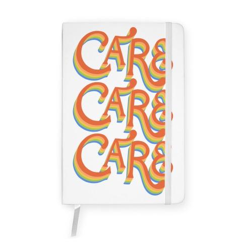 Care Retro Lettering Notebook