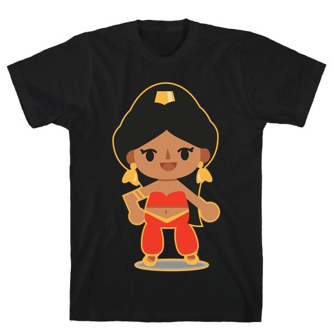 Princess Crossing Jasmine Parody Red T-Shirt