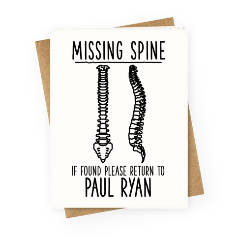 Missing Spine Greeting Card
