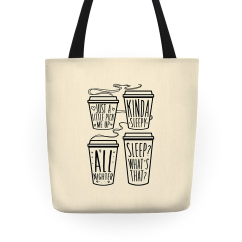 Coffee Sizes For The Restless Tote