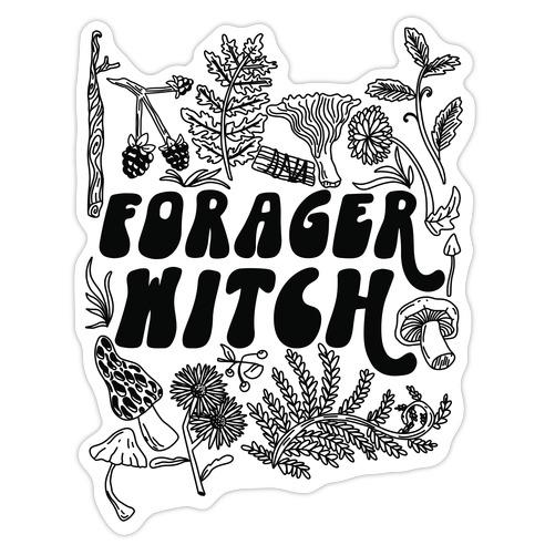 Forager Witch Die Cut Sticker