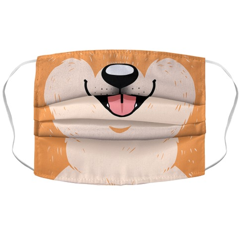 Shiba Inu Mouth Accordion Face Mask
