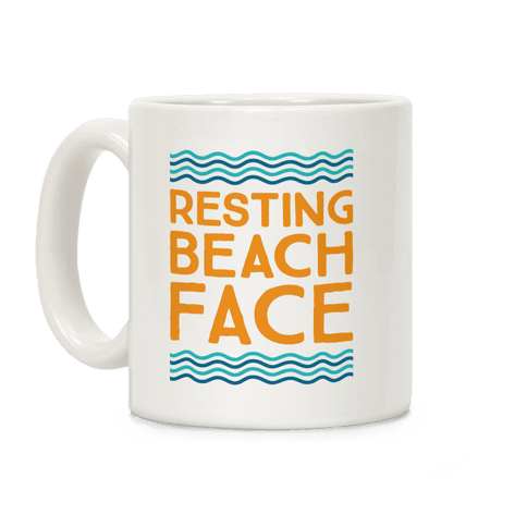 Resting Beach Face Coffee Mug