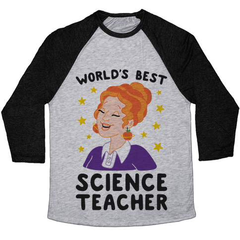 World's Best Science Teacher Baseball Tee