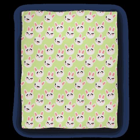 BunBun Pattern Green Blanket