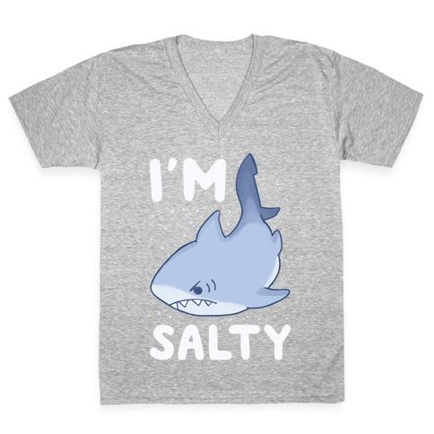 I'm Salty - Shark V-Neck Tee Shirt