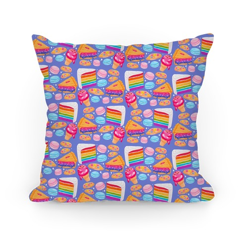 LGBTQ Desserts Pattern Pillow