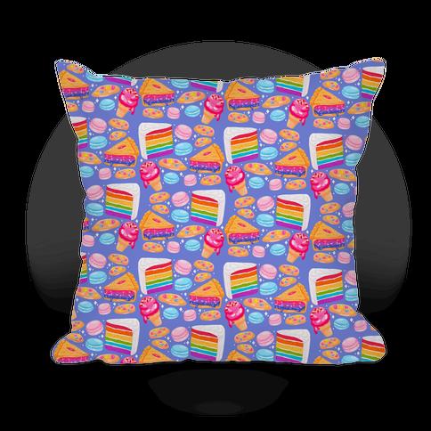 LGBTQ Desserts Pattern Pillow