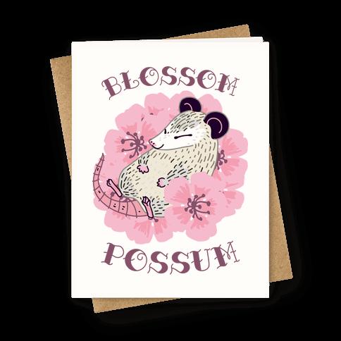 Blossom Possum Greeting Card