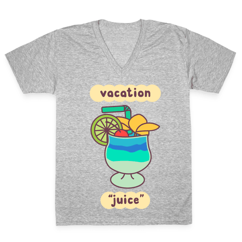 """Vacation """"Juice"""" V-Neck Tee Shirt"""