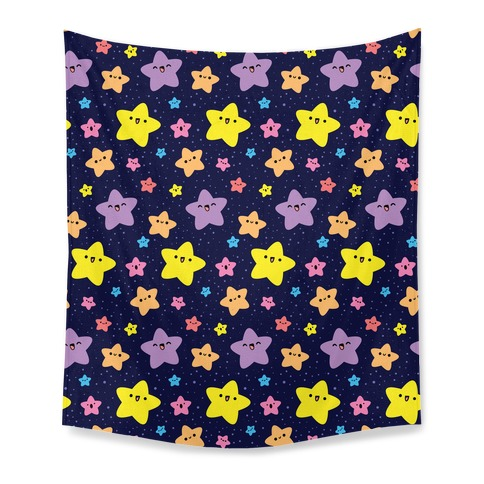 Cute Stars Pattern Tapestry