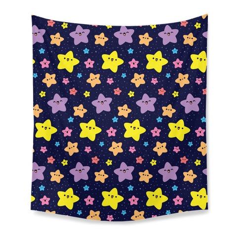 Cute Stars Pattern Tapestry