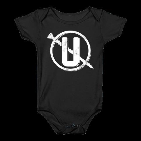 Screw You Necklace Logo Baby Onesy