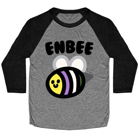Enbee Enby Bee Gender Queer Pride Baseball Tee