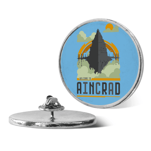 Welcome To Aincrad pin
