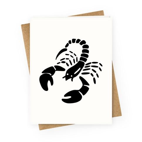 Zodiacs Of The Hidden Temple - Scorpio Scorpions Greeting Card