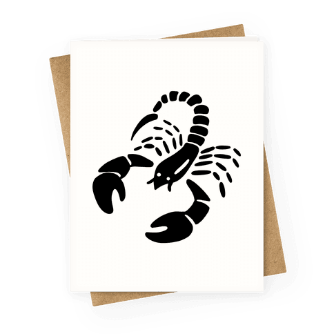 Zodiacs Of The Hidden Temple - Scorpio Scorpions Greeting Card