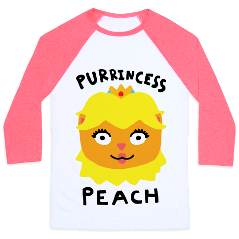 Purrincess Peach Baseball Tee
