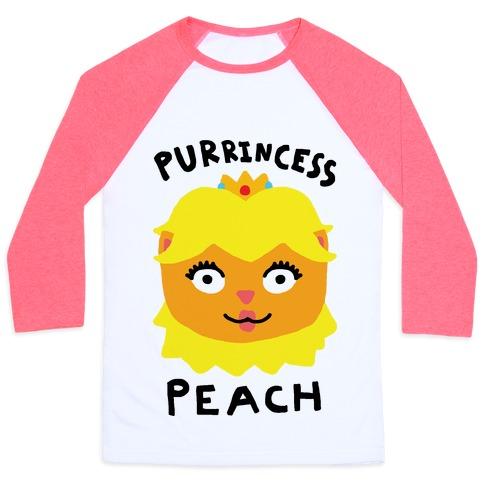 Purrincess Peach Baseball Tee