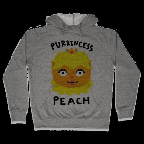 Purrincess Peach Hooded Sweatshirt