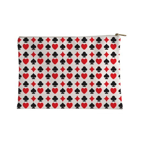 Card Deck Symbols Pattern Accessory Bag