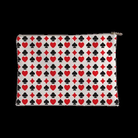 Card Deck Symbols Pattern Accessory Bag