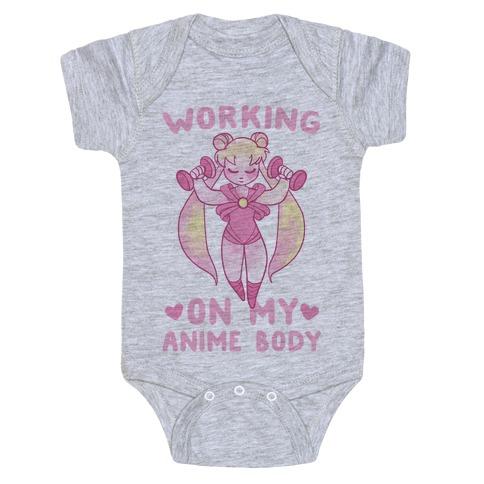 Working On My Anime Body Baby Onesy