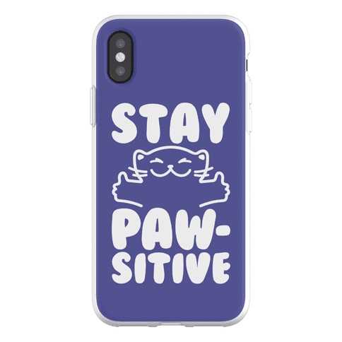Stay Pawsitive Phone Flexi-Case