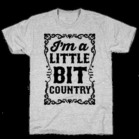I'm A Little Bit Country Pair 1 Mens T-Shirt