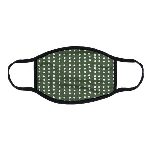 Polka Dot Chive Minimalist Boho Pattern Flat Face Mask
