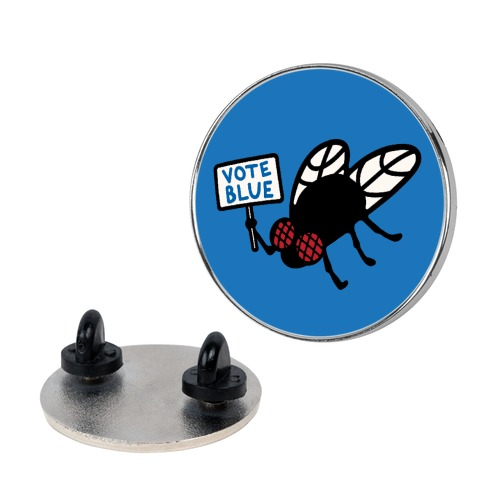 Vote Blue Fly Pin