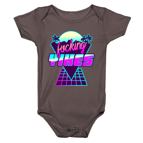 F***ing YIKES Retro Wave Baby One-Piece